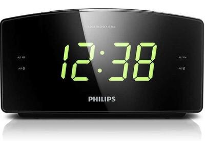 Philips - Philips AJ3400/12 Büyük Ekranlı Çift Alarm Saatli Radyo