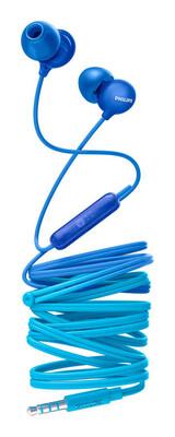 Philips - Philips Upbeat SHE2405BL/00 Kulakiçi Mikrofonlu Kulaklık Mavi