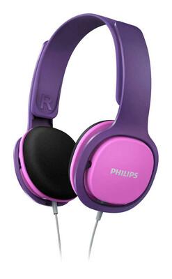 Philips - Philips SHK2000PK/00 Kulak Üstü Çocuk Kulaklığı Pembe & Mor