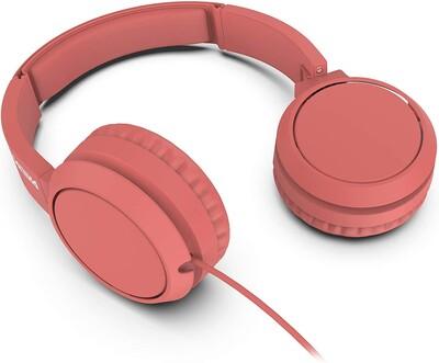 Philips - Philips TAH4105RD/00 Kablolu Kulak Üstü Kulaklık Siyah